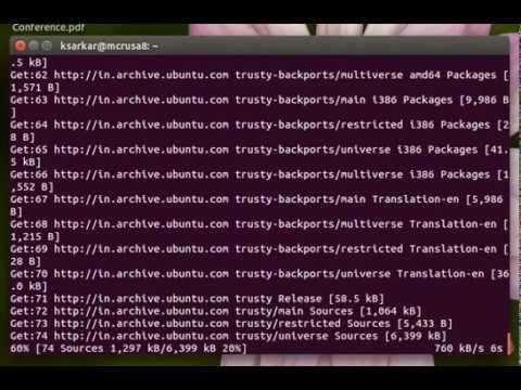 Update ubuntu by command in terminal