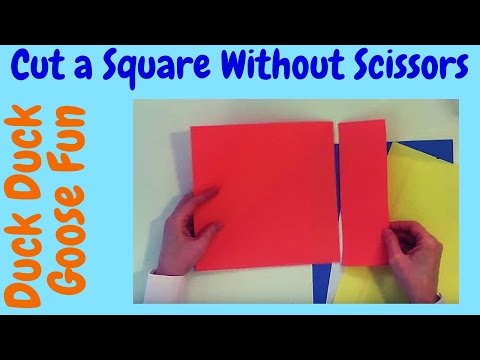 How to Cut Paper into a Perfect Square Without Scissors