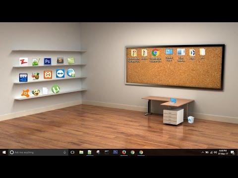 How to make a Beautiful Classic 3D Desktop in Windows 2017