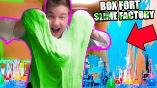 BILLIONAIRES BOX FORT SLIME FACTORY!! 📦🍵 $1,000 Slime Challenge