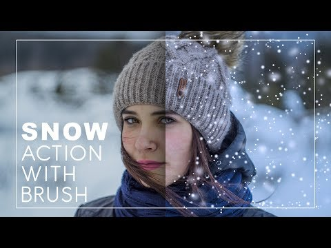 Snow Photoshop Action with Brush - How to Create and Add Snow to Photos with Shallow Depth Of Field