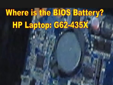 Where is the BIOS Battery? HP Laptop G62-435X