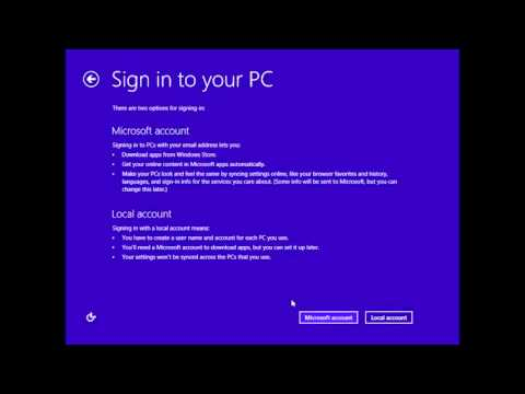 Skip Microsoft Account Screen on Windows 8 Setup