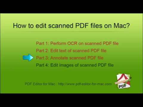 [PDF Editor] How to Edit scanned PDF documents on Mac?