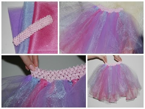 How to Make a Tutu Dress, Skirt Tutorial EASY! No Sew!