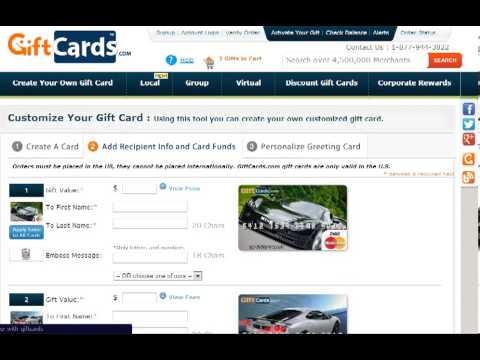 How To Create A Custom Gift Card