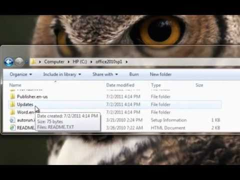 How to Slipstream Microsoft Office 2010 with SP1