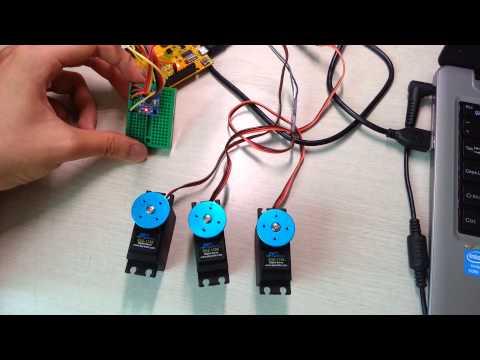DIY 3axis gimbal project - MPU6050 sensor with servo test