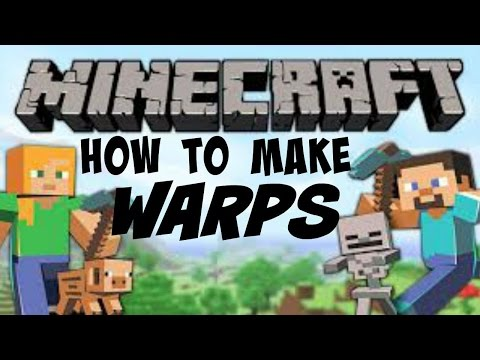 How to make a warp sign episode 2 of mcpe school