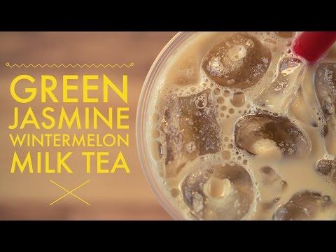 Green Jasmine Wintermelon Milk Tea Recipe To Go by Bubble Tea Supply
