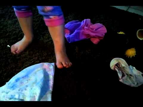 Hilarious!!! Little girl steps in poop!