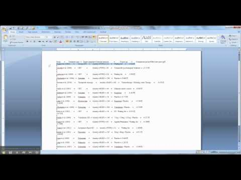 How to create APA tables in Word (Part 1)