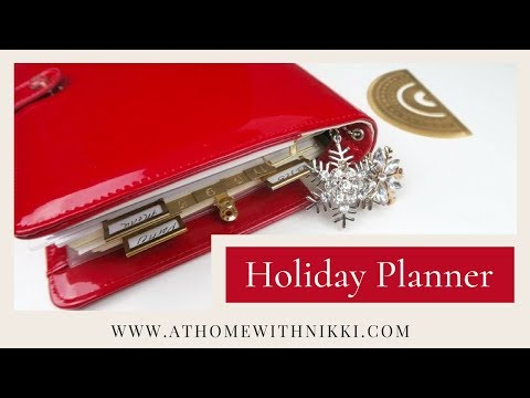 PLANNER TOUR & SET-UP  2017 | HOW I PLAN FOR THE HOLIDAYS  PLUS GIVEAWAY