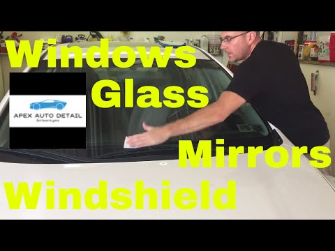 One of the BEST ways to clean Glass, Windshields, Windows, Mirrors.