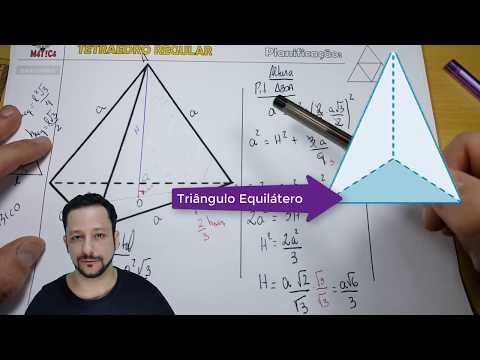TETRAEDRO REGULAR | Área Total, Altura e VOLUME - Fórmulas (Dedução) | Canal Waldemática
