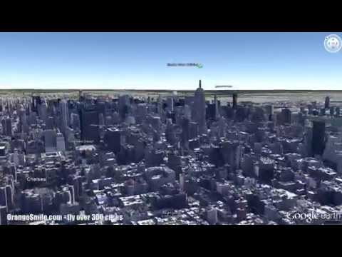 New York sightseeings in 3D - flight over the city in Google Earth