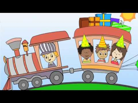 Happy Birthday Party Train Song for Children