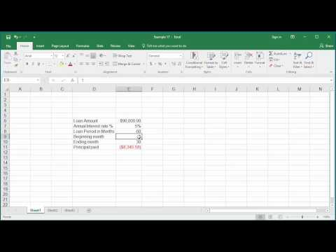 How to Calculate cumulative Interest amount paid for a loan using CUMIPMT function in Excel 2016