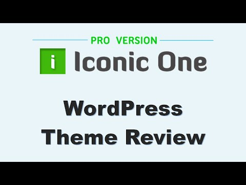 Iconic One Pro theme review / demo (WordPress Theme by Themonic)