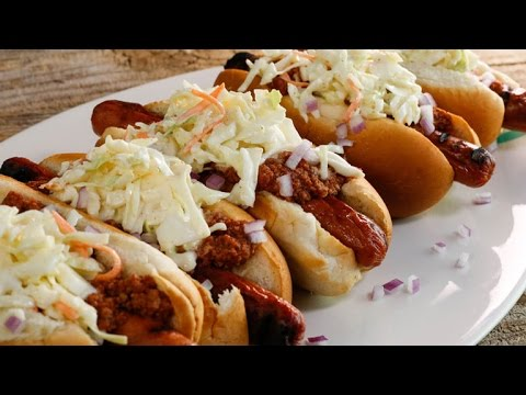 A Chili Hot Dog with a Slow Cooker Twist