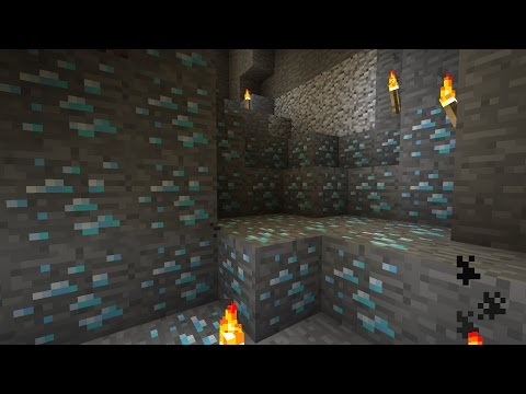 Minecraft - Spawning in Diamond caves in Survival mode (no mods/cheats)