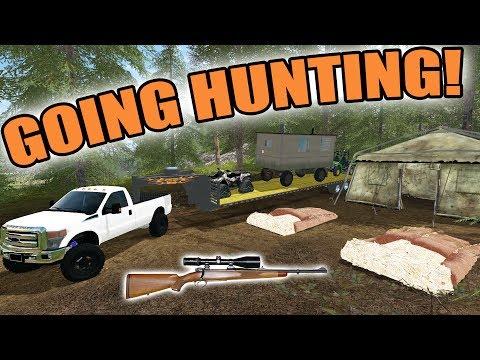 FARMING SIMULATOR 2017/ THE HUNTER | GOING HUNTING! + SHOOTING A RED FOX!