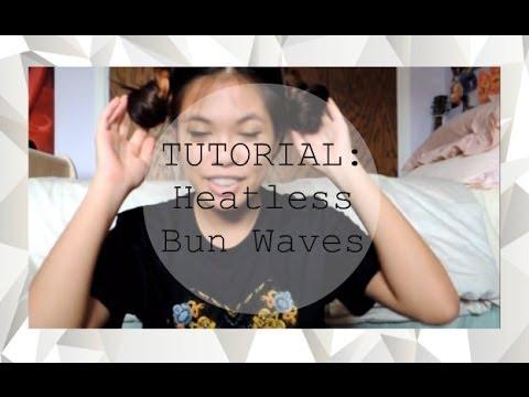TUTORIAL: Heatless Bun Waves