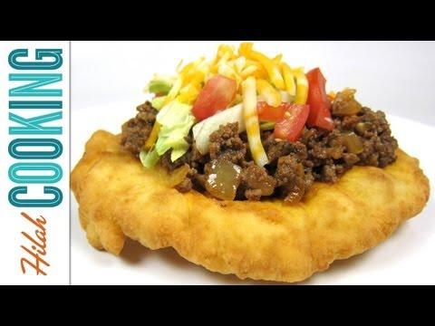 Homemade Indian Tacos and Indian Frybread Recipe   Hilah Cooking