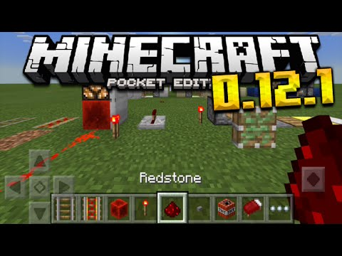 ★IOS MODS! REDSTONE IN 0.12.1 - Pistons, Redstone Lamps, Levers & MORE Minecraft Pocket Edition★