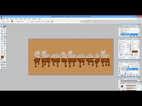 Photoshop tutorial: Chocolate Text Effect