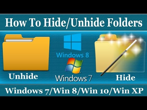 How To Hide and Unhide Folder in Windows 7/8/10/XP - Urdu/Hindi