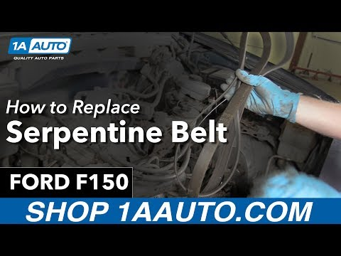 How to Remove Install Serpentine Belt 98 Ford F150