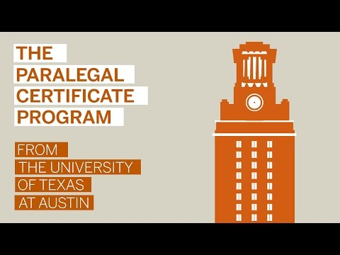 Paralegal Certificate Program from TEXAS Extended Campus
