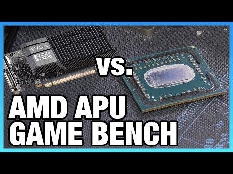 R3 2200G & R5 2400G vs. GT 1030 & Cheap CPUs   Game Benchmarks