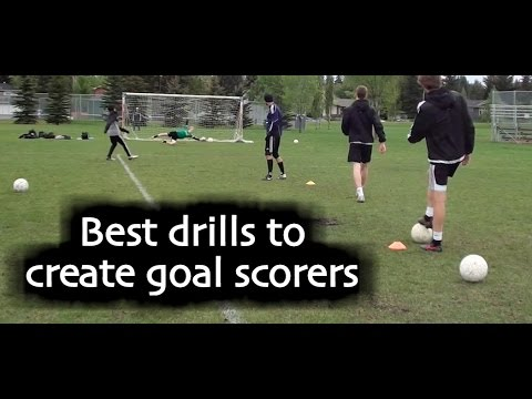 Soccer drills and training teach how to score more goals in soccer