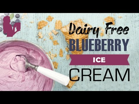 Delicious Blueberry Ice Cream recipe made using a Vitamix or Blendtec commercial blender