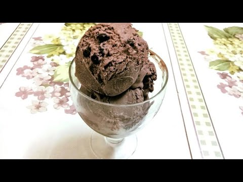 Chocolate Ice Cream | Chocolate Chip Ice Cream Recipe In Hindi | Homemade Eggless Ice Cream