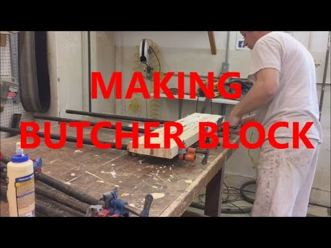 MAKING MAPLE  BUTCHER BLOCK / KITCHEN TABLE ,COUNTER , ISLAND