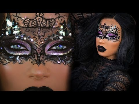 MASQUERADE MASK MAKEUP! HALLOWEEN TUTORIAL | Nikki French