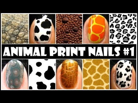 ANIMAL PRINT NAIL ART #1 | NO TOOLS REQUIRED EASY NAILS DESIGN TUTORIAL FOR BEGINNERS AT HOME DIY