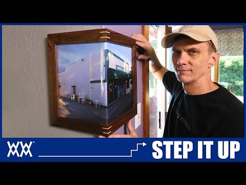Wrap Around Corner Picture Frames | STEP IT UP Woodworking