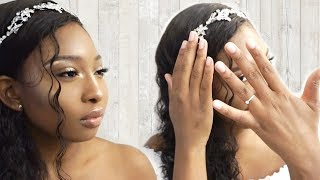 Soft Glam Wedding Hair & Makeup GRWM | MyFirstWig