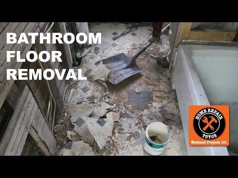 How to Remove a Bathroom Floor (Step-by-Step) - by Home Repair Tutor