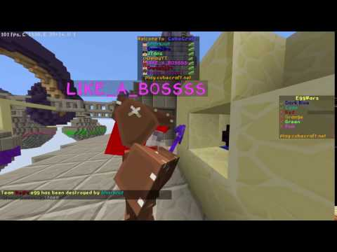 LIKE_A_BOSSSS Fly Hacking on CubeCraft Eggwars