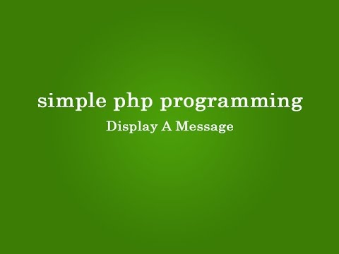 PHP for  Begginers step by step