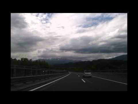 Timelapse: Driving from Venice to Zell Am See