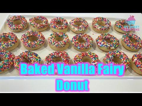 Baked Vanilla Fairy Donut