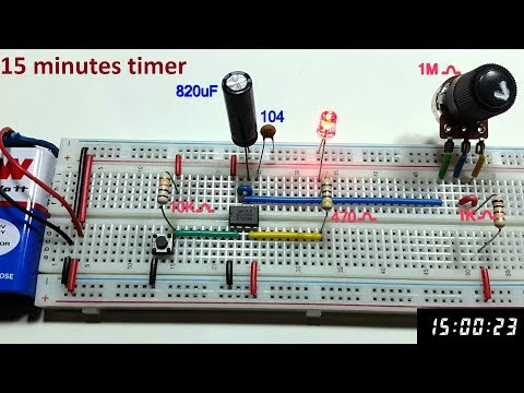 15 minutes Variable Monostable multivibrator using 555 timer in Tamil & English,tamil electronics