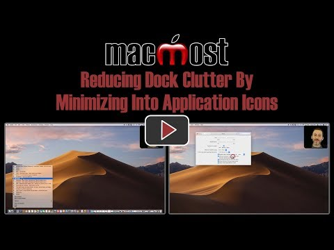 Reducing Dock Clutter By Minimizing Into Application Icons (MacMost #1793)