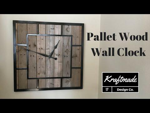 Building a Pallet Wood Clock - Kraftmade
